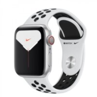 Apple Watch Nike+ 5 (GPS + Cellular) 40mm Silver Aluminium Case with Pure Platinum/Black Nike Sport Band (MX3C2)