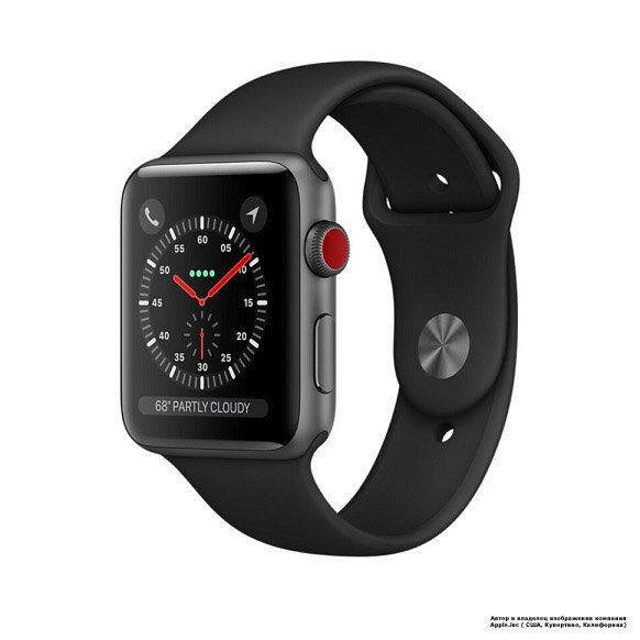 Apple Watch 5 (GPS + Cellular) 40mm Space Gray Aluminum case Black Sport Band (MWWQ2)