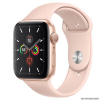 Apple Watch 5 (GPS) 44mm Gold Aluminum Case with Pink Sand Sport Band (MWVE2)